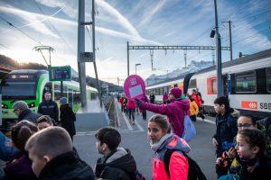 En gare d'Aigle © Olivier Maire