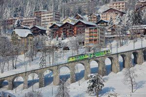 Train montagne Aigle Leysin Hiver